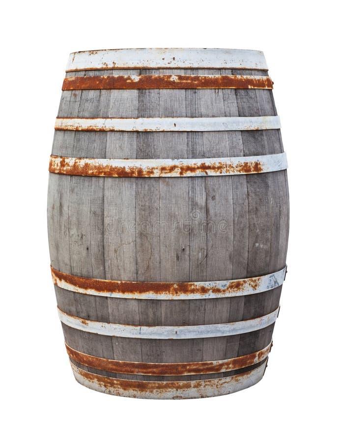 Tambor de vinho velho grande foto de stock