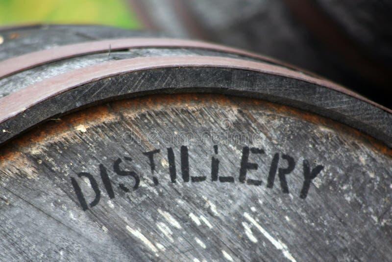 Tambor do envelhecimento para o uísque ou o bourbon imagem de stock