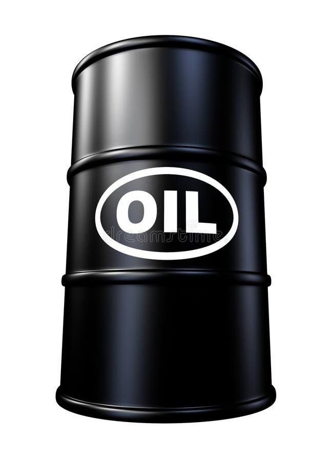 Tambor e cilindro de petróleo ilustração do vetor
