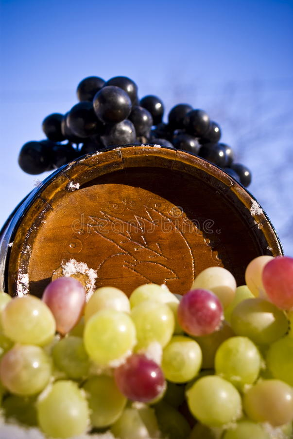 Download Tambor e uvas foto de stock. Imagem de marrom, vinho - 12800718