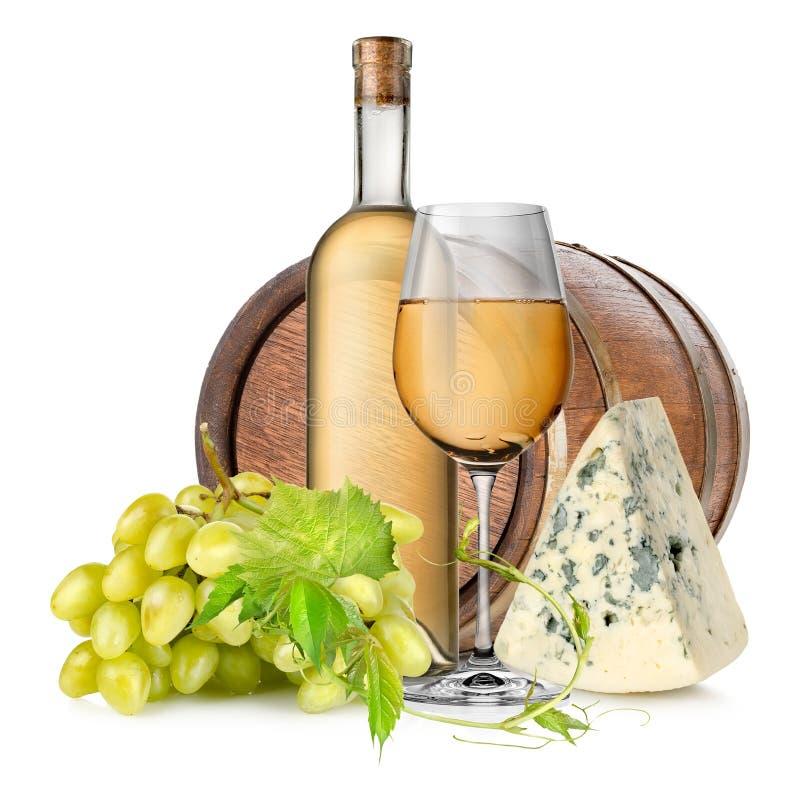 Tambor e vinho de madeira imagem de stock royalty free