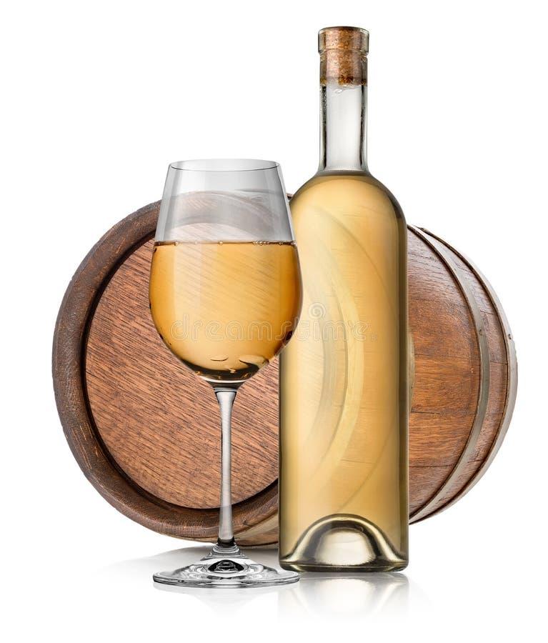 Tambor e vinho isolados foto de stock