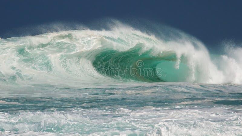 Tambor norte maciço do hawaiian da costa fotos de stock royalty free