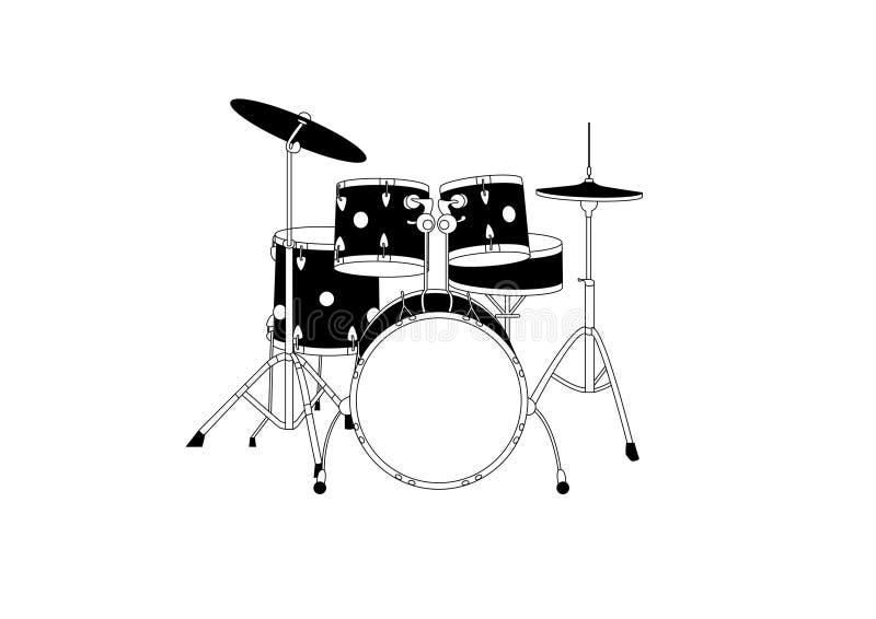 Tambores stock de ilustración