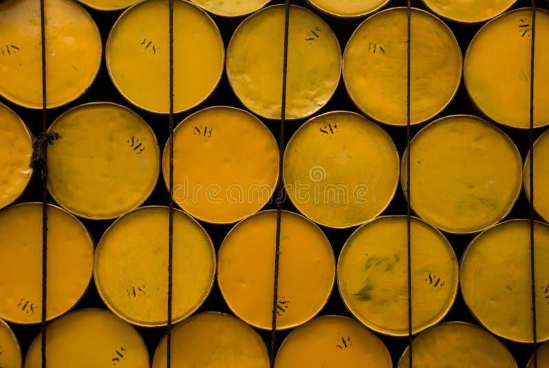 Tambores amarillos fotos de archivo libres de regalías