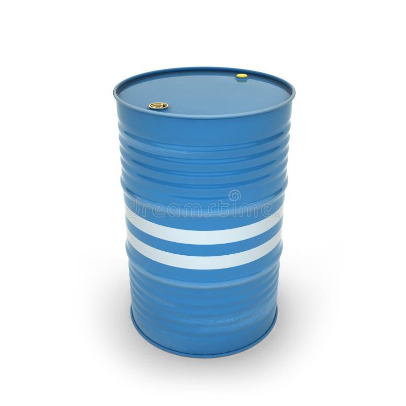 Tambores azuis em um fundo branco ilustração stock