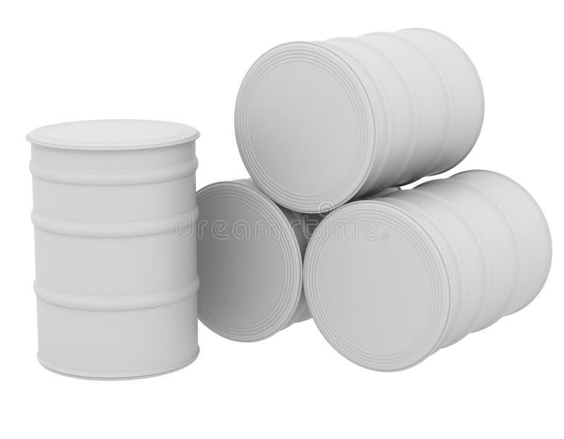 Tambores brancos ilustração do vetor