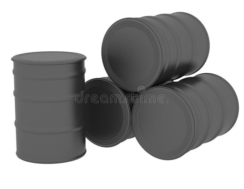 Tambores de óleo pretos ilustração do vetor