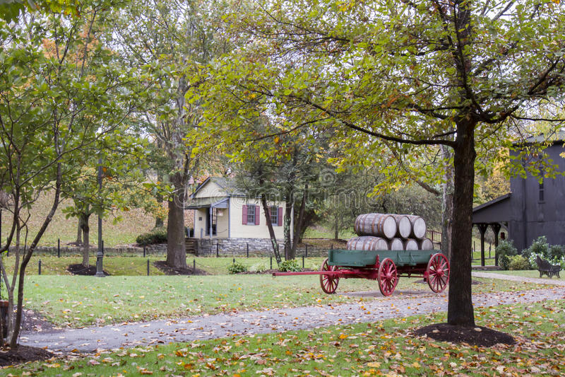 Tambores de Bourbon no vagão foto de stock royalty free