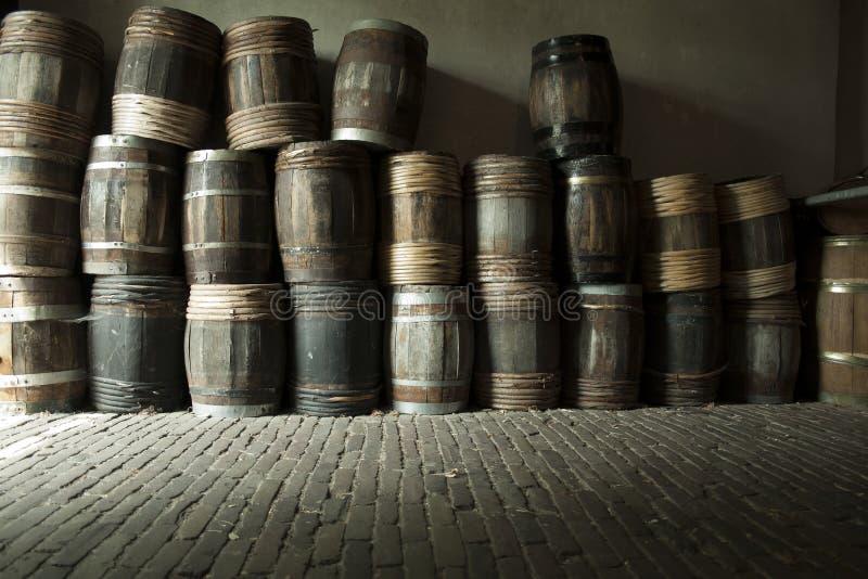 Tambores de madeira imagem de stock
