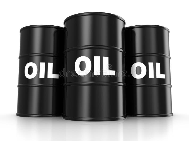 Tambores de petróleo ilustração do vetor