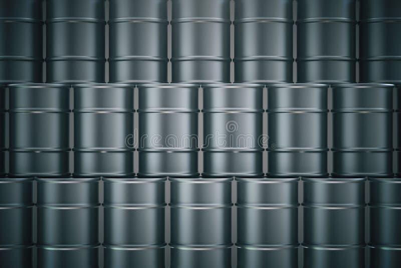 Tambores de petróleo pretos ilustração do vetor