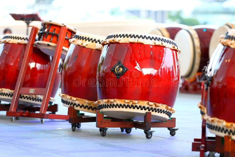 Tambores de Taiko imagen de archivo libre de regalías