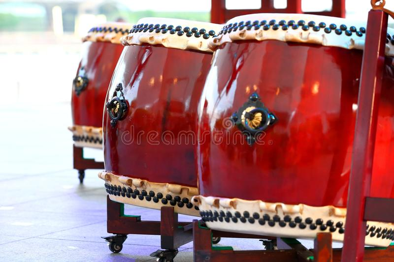 Tambores de Taiko fotos de archivo