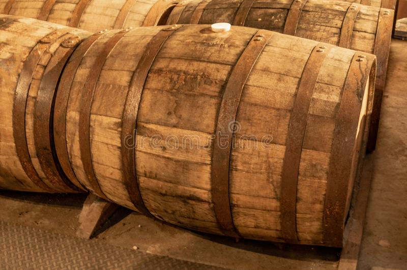 Tambores do uísque de Bourbon imagens de stock
