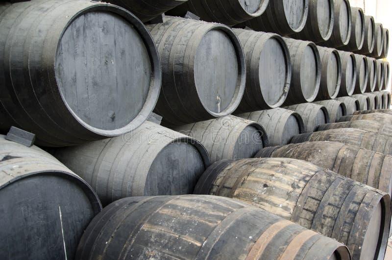 Tambores do vinho foto de stock