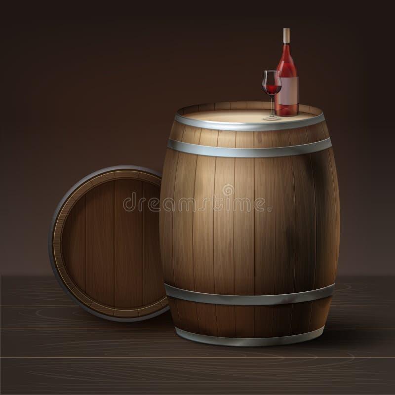 Tambores para o vinho ilustração royalty free