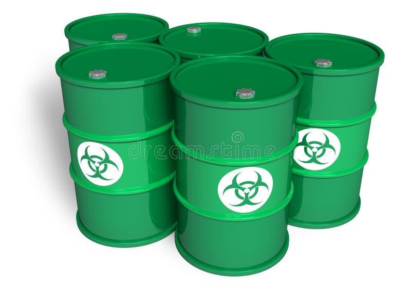 Tambores químicos ilustração do vetor