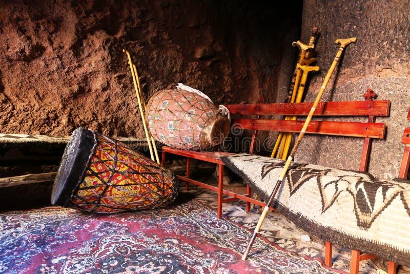 Tambores y barra africanos del peregrino, Etiopía imagen de archivo libre de regalías