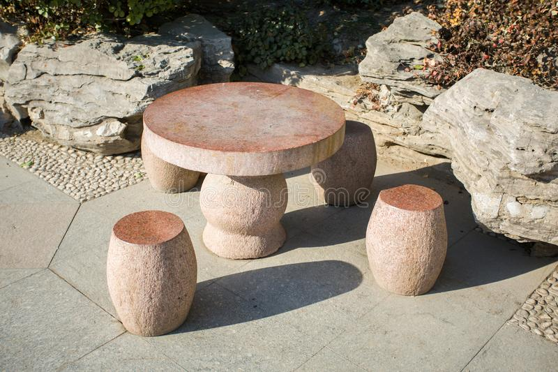 Tamborete da pedra de China fotografia de stock