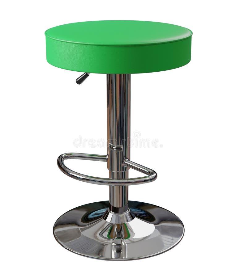Tamborete de barra verde isolado no fundo branco foto de stock