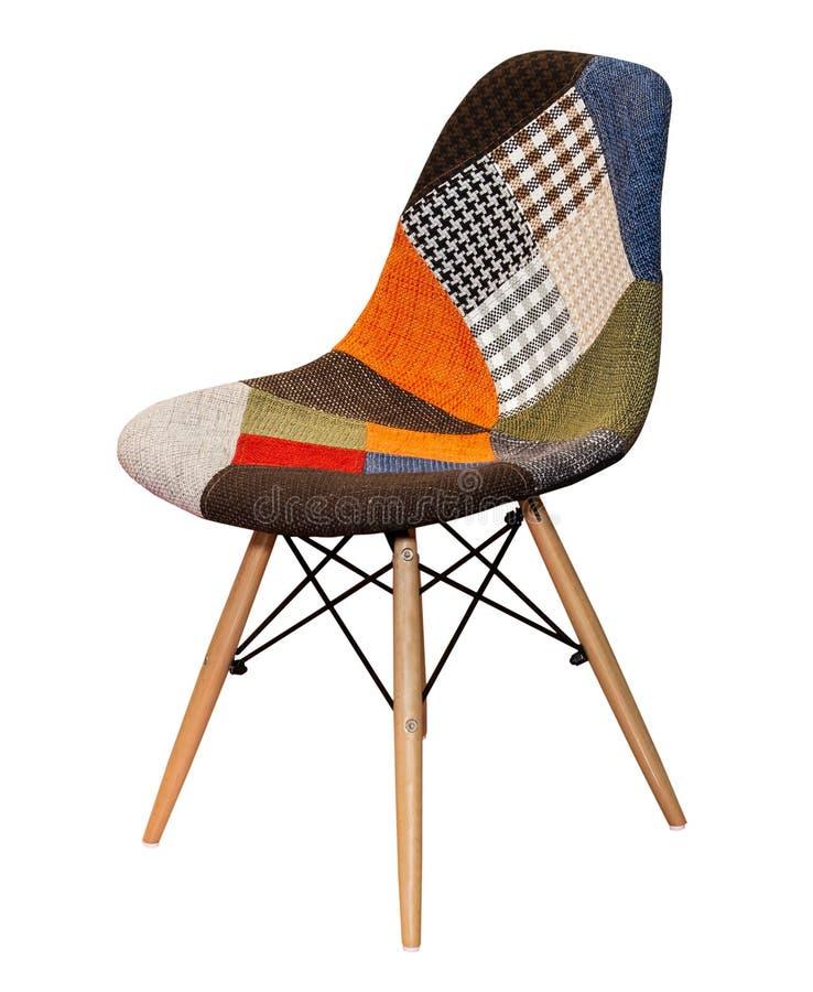 Tamborete moderno da cadeira de cores diferentes isolado fotografia de stock royalty free