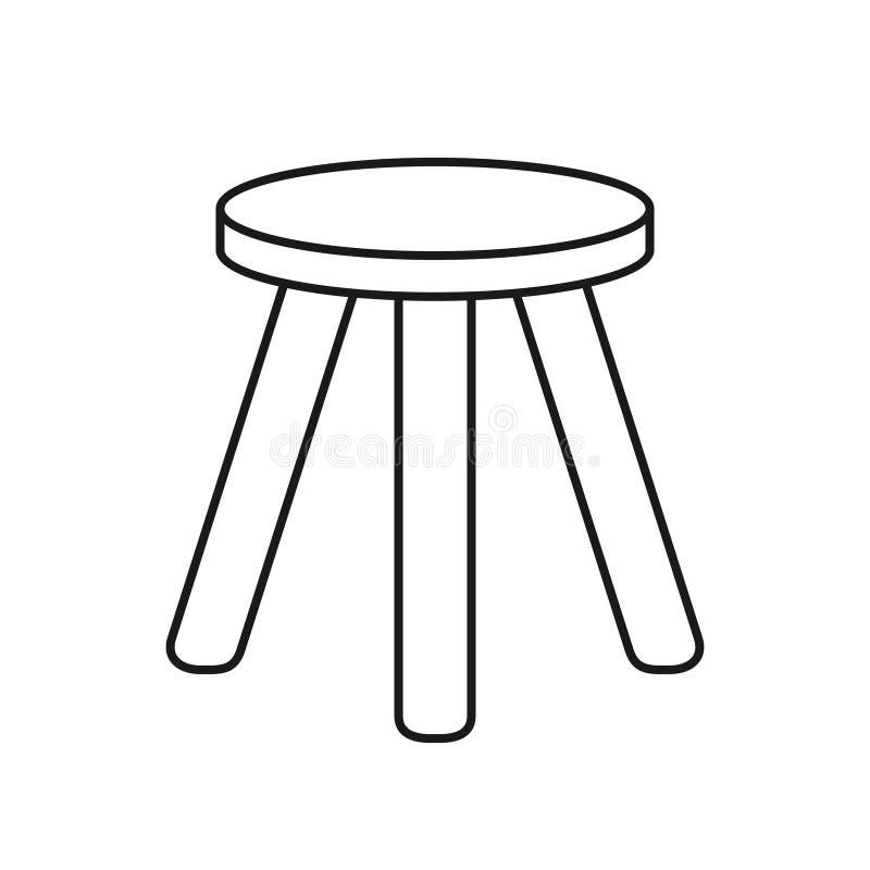 Tamborete três equipado com pernas ilustração do vetor