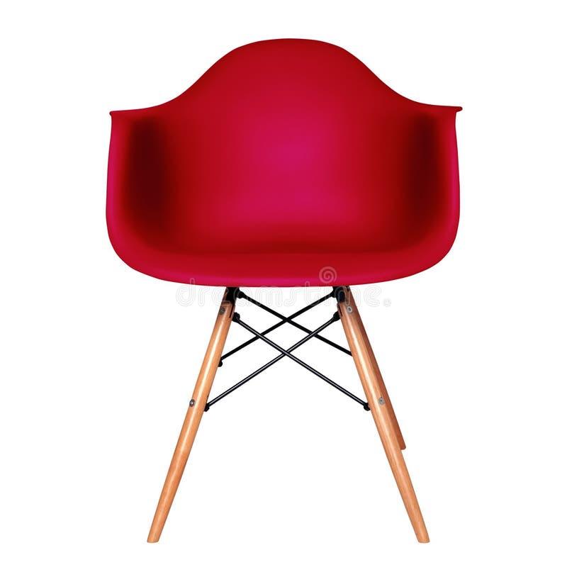 Tamborete vermelho moderno da cadeira isolado fotos de stock royalty free