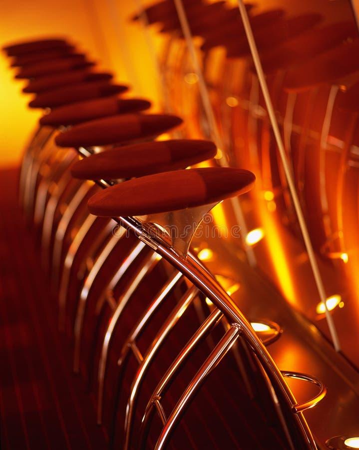 Tamboretes de barra fotografia de stock
