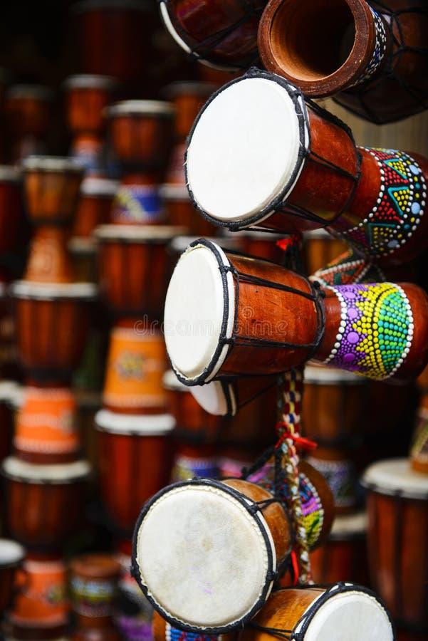 Tambour africain de Djembe images libres de droits