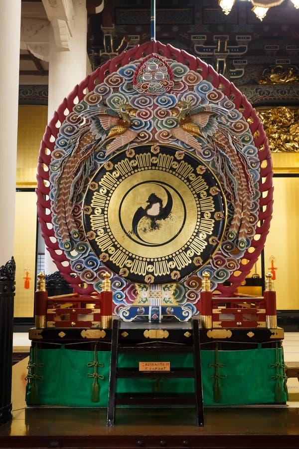 Tambour au temple de Tsukiji Honganji à Tokyo photos stock