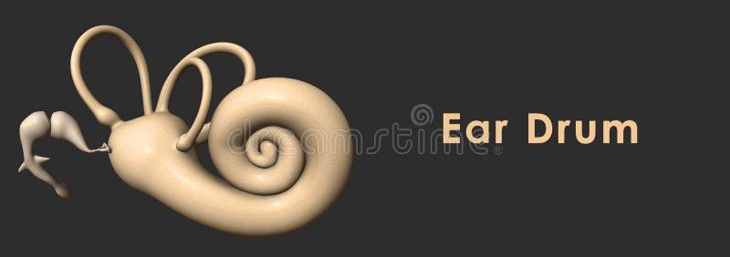Tambour d'oreille illustration libre de droits