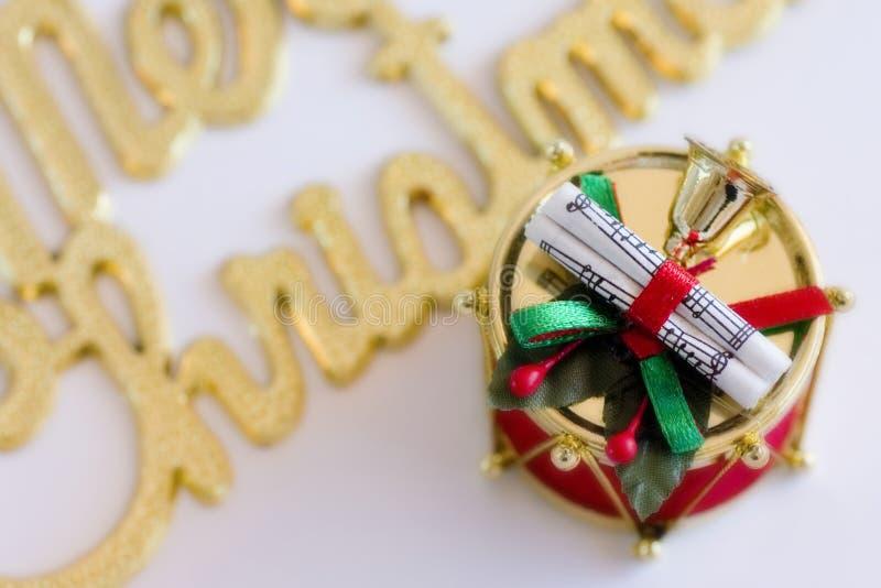Tambour de Noël photographie stock libre de droits