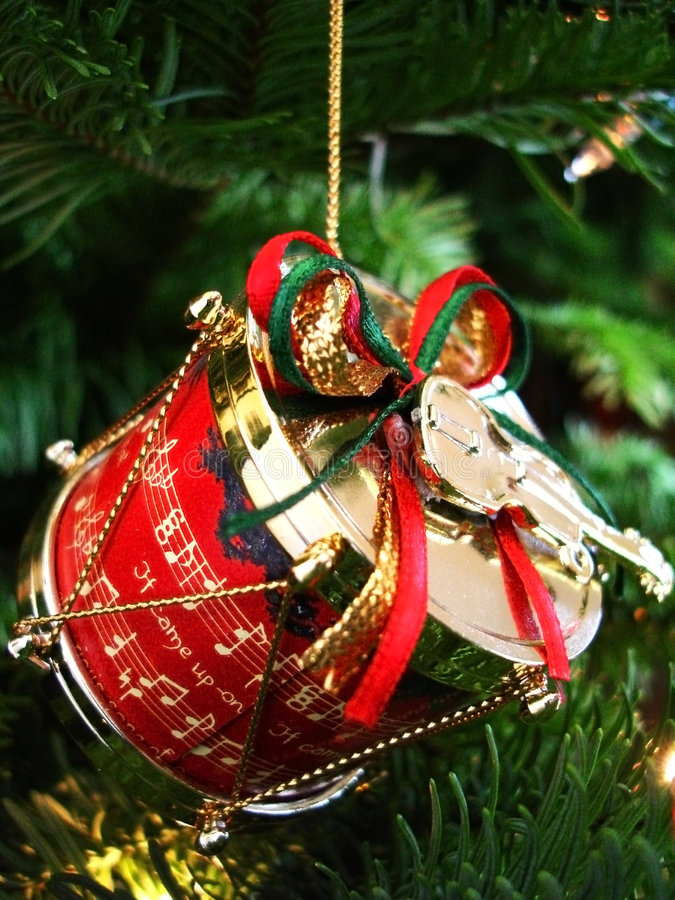 Tambour de Noël photographie stock