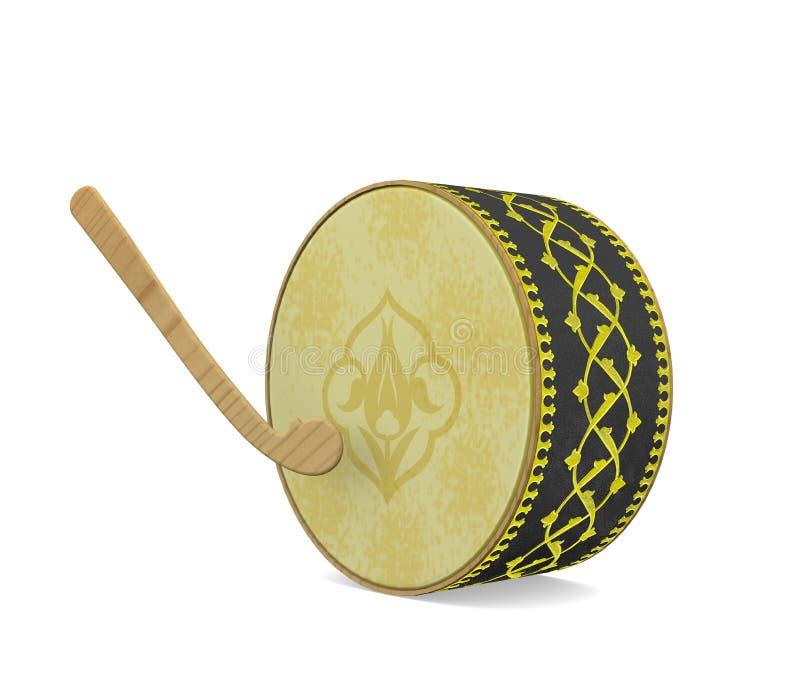 Tambour de Ramadan Instrument de musique turc de culture illustration stock