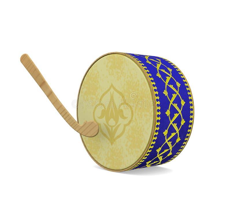 Tambour de Ramadan Instrument de musique turc de culture illustration libre de droits