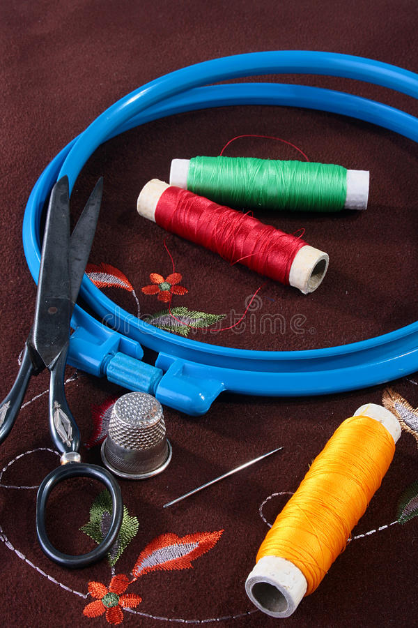 Download Tambour for an embroidery stock photo. Image of craft - 12305716