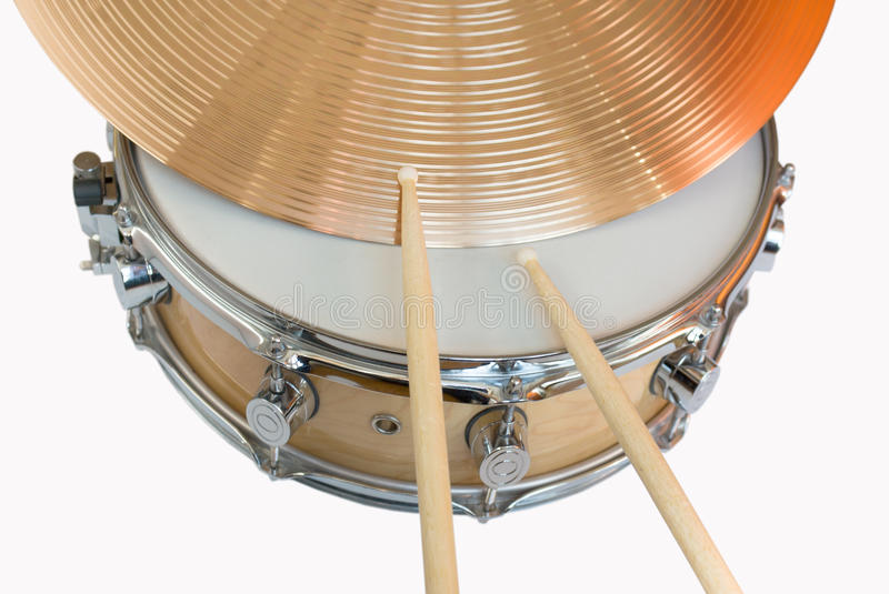 Tambour et cymbales images stock