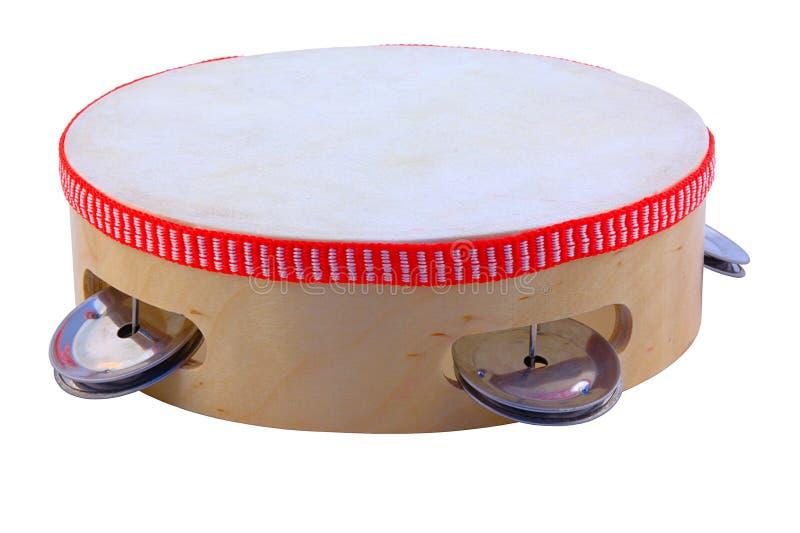 Tambourine. Tambourine isolated on pure white stock images