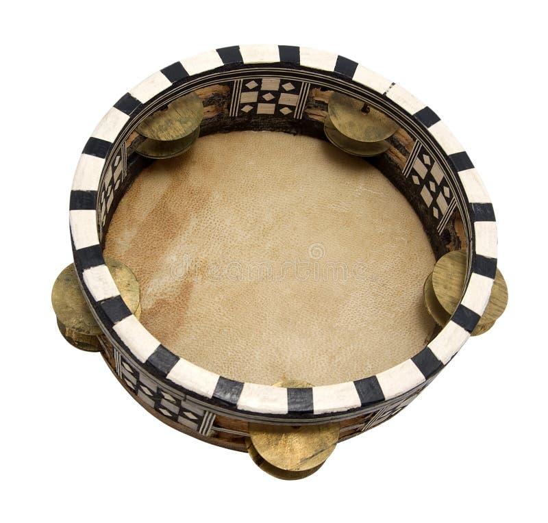 Tambourine. Isolated on white background stock photography