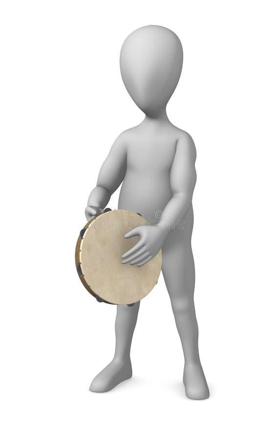 Download Tambourine stock illustration. Illustration of instrument - 14856110