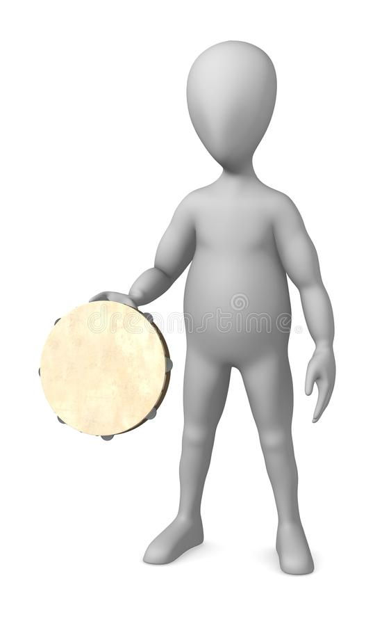 Download Tambourine stock illustration. Image of pose, musical - 14856117