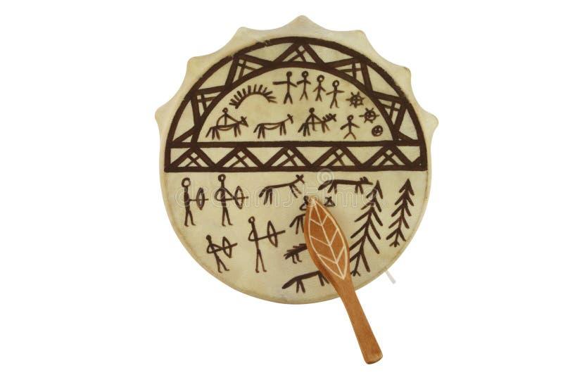 Tambourine. The image of shaman tambourine under the white background royalty free stock photos