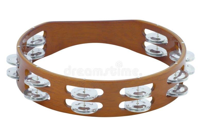 Tambourine. The image of tambourine under the white background royalty free stock image