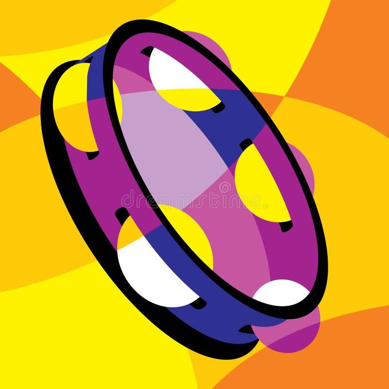 Tambourine ilustração stock