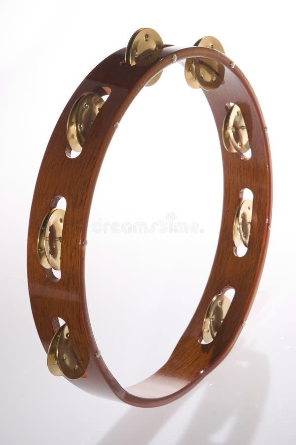 Tambourine di legno 1 immagine stock
