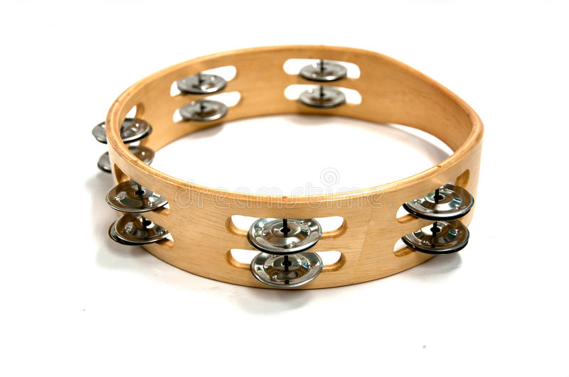 Tambourine isolated royalty free stock images
