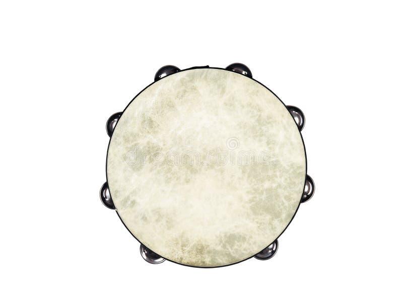 Tambourine. One tambourine on white background stock photography