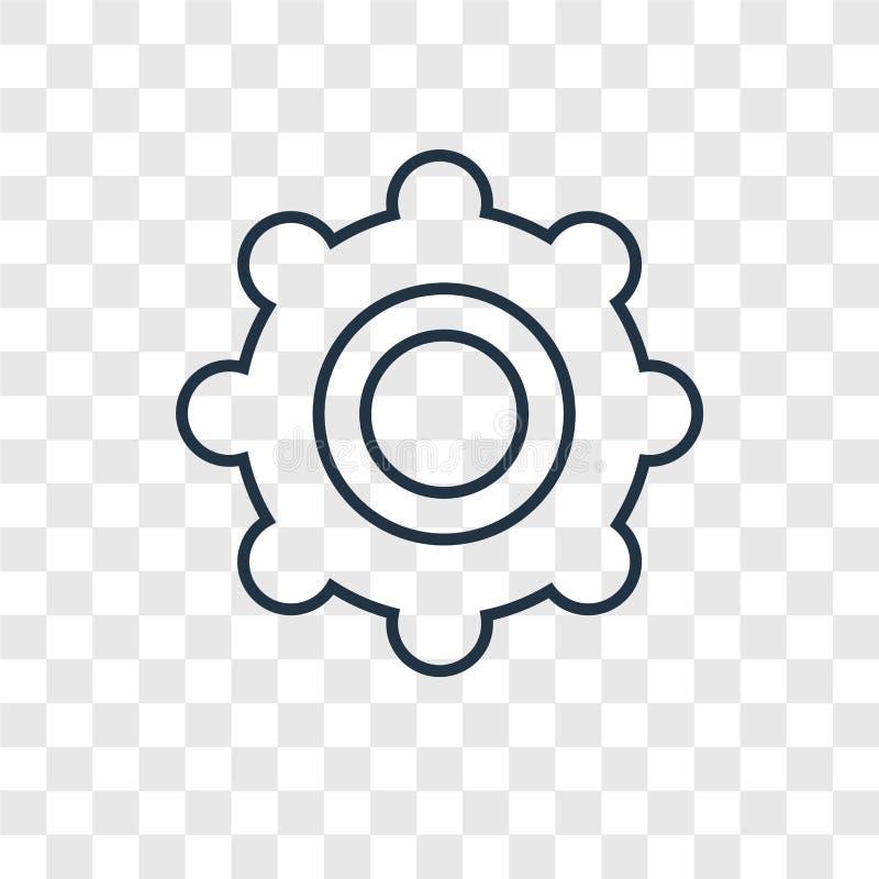 Tambourine pojęcia wektorowa liniowa ikona odizolowywająca na przejrzystych półdupkach royalty ilustracja