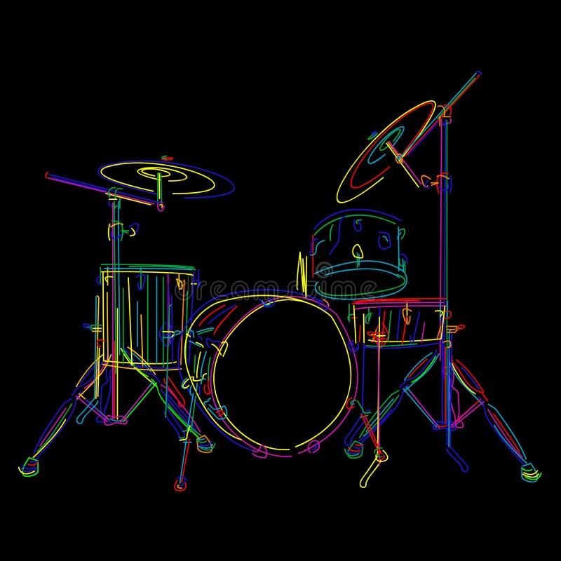 Tambours illustration de vecteur